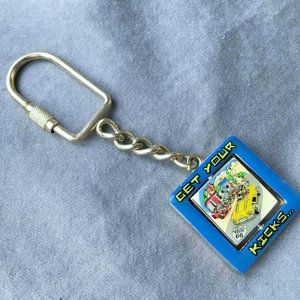 Get Your Kicks Route 66 Keychain Keyring Spinner